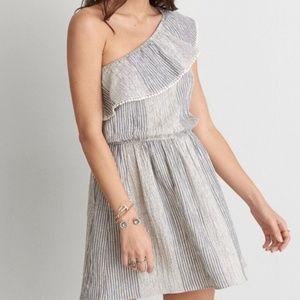AE American Eagle One Shoulder Mini Dress | Small